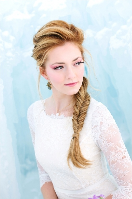 Disneys Frozen themed wedding hair