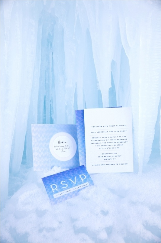 Disneys Frozen wedding invite