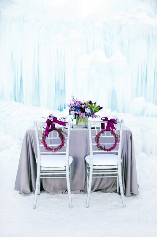 Disneys Frozen wedding reception ideas