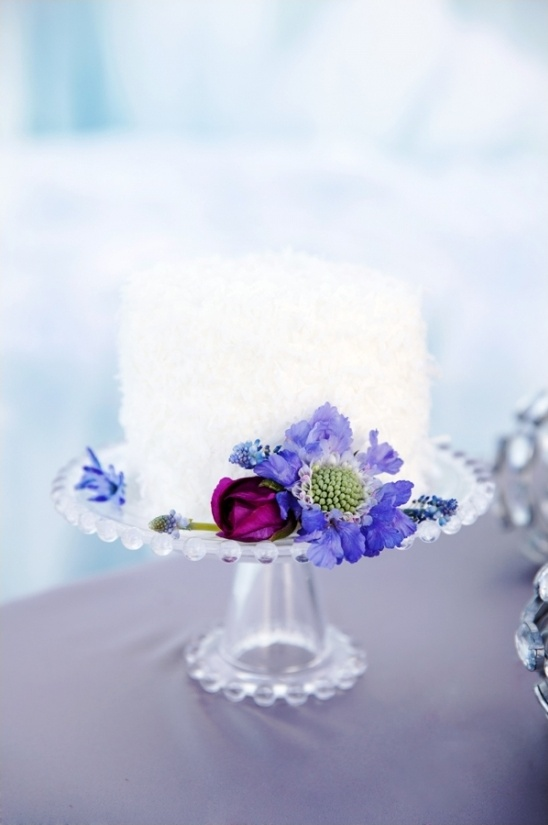 shredded coconut winter wedding cake