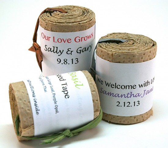 Gardening Seed Tape Favors