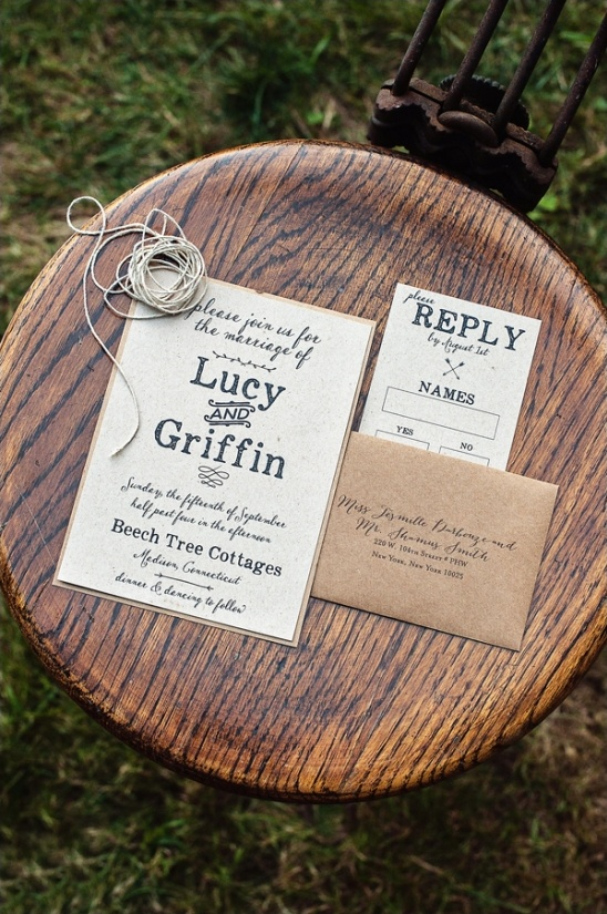 natural wedding invite