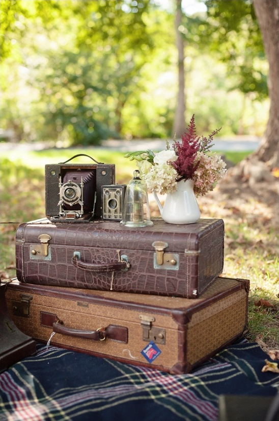 suitcases make great little tables