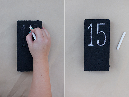vertical table number brick