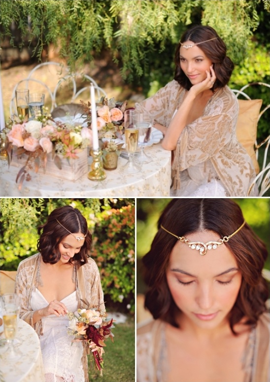bejeweled wedding headpiece