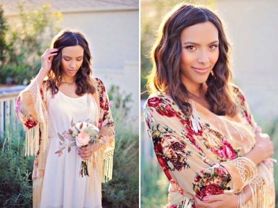 floral bohemian kimono for the bridesmaid