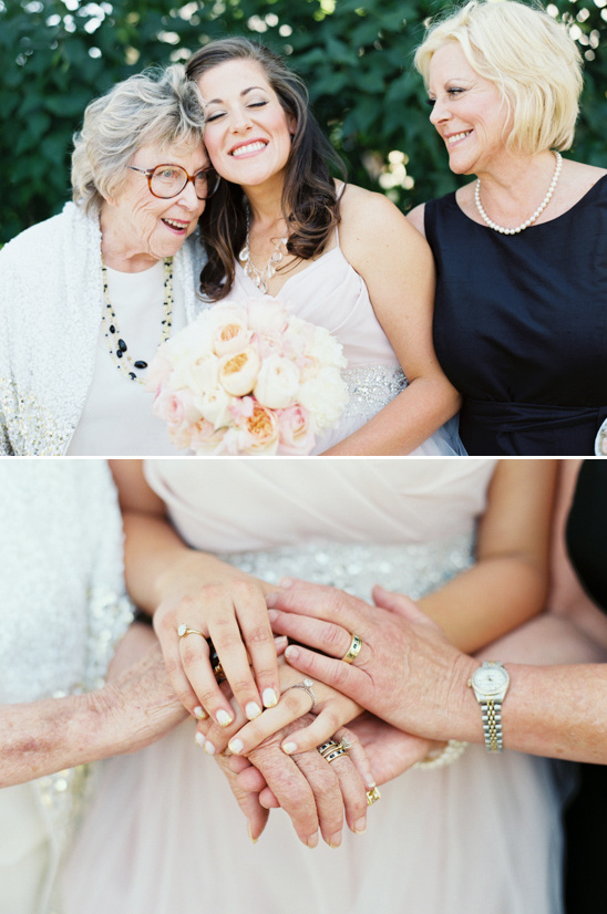 Grandmother Mother and Daughter wedding moments