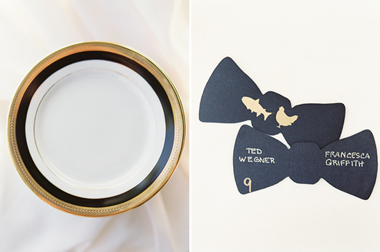 black tie wedding place card ideas
