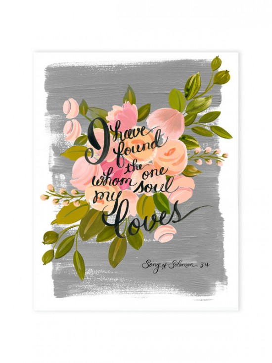 Song of Solomon Wedding Print by The First Snow