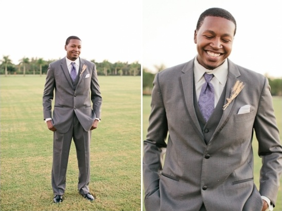 gray and purple groom ideas