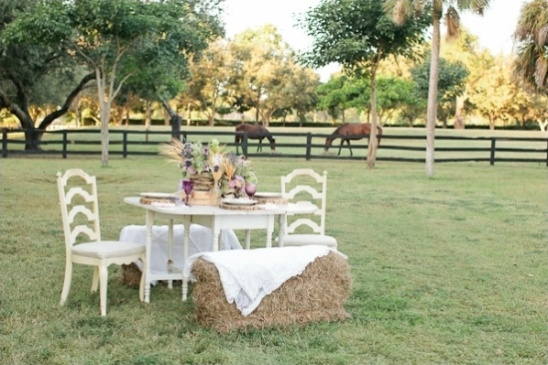 simple and rustic outdoor reception ideas
