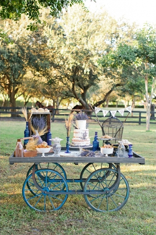 wedding cake wagon table ideas