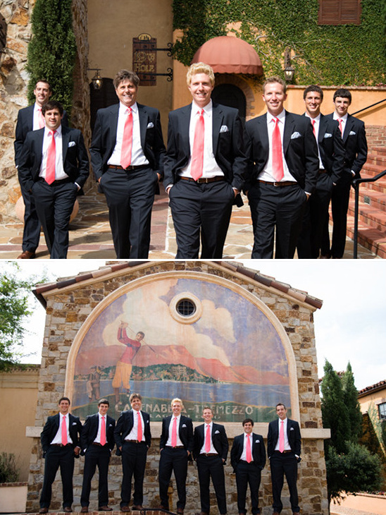 pink and navy groomsmen ideas