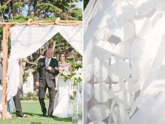 white circle ceremony curtain