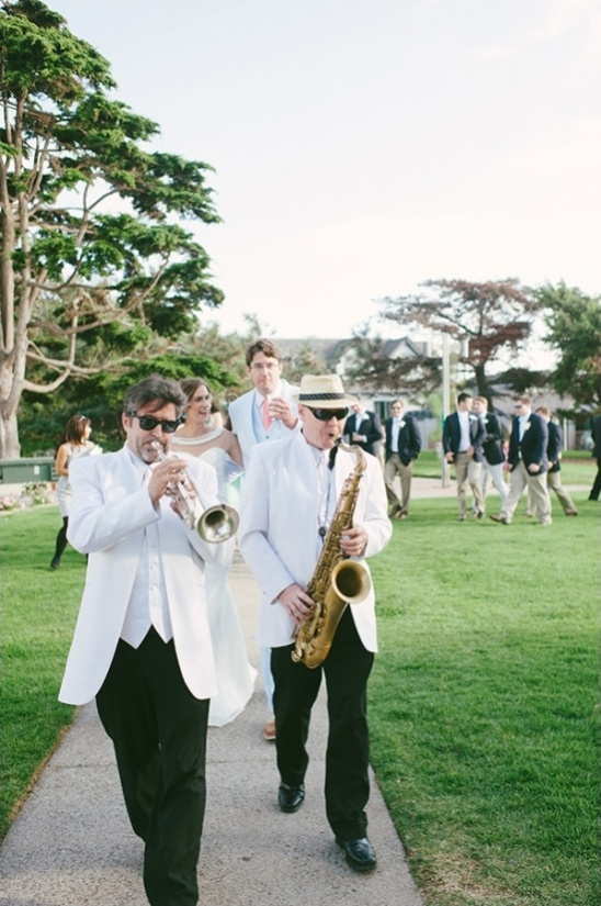 new orleans style wedding parade to reception