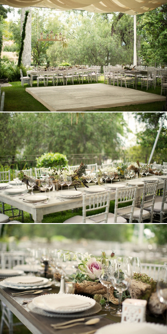 elegant tent reception at Mexico estate