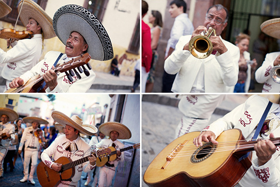 prewedding parade with mariachi band