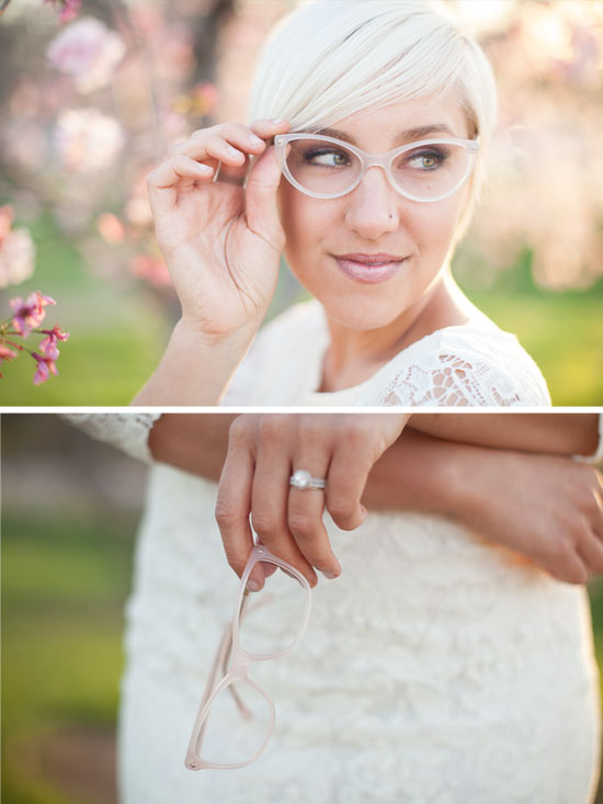 Wear glasses wedding