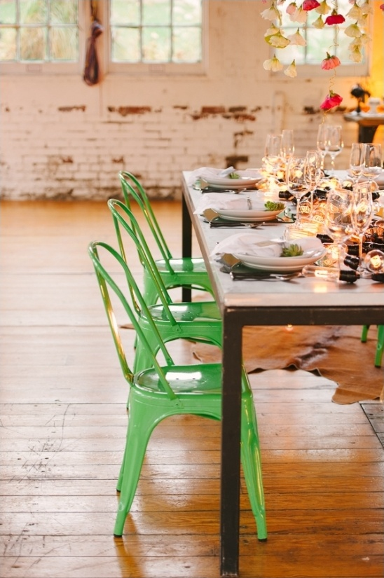 green wedding chairs