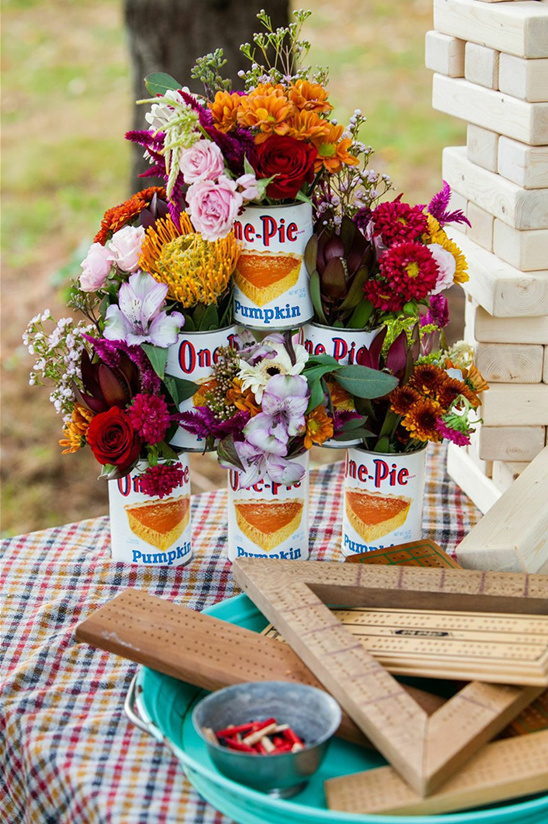 florals in vintage pie tins
