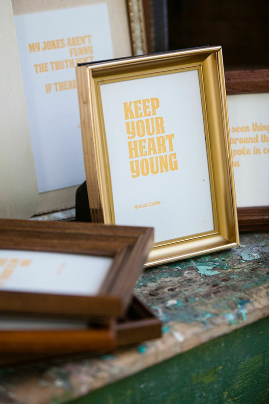 keep your heart young wedding sign