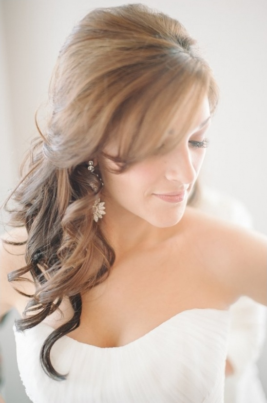 loose curl wedding hair idea