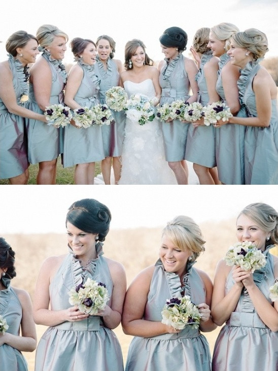 halter bridesmaids dresses