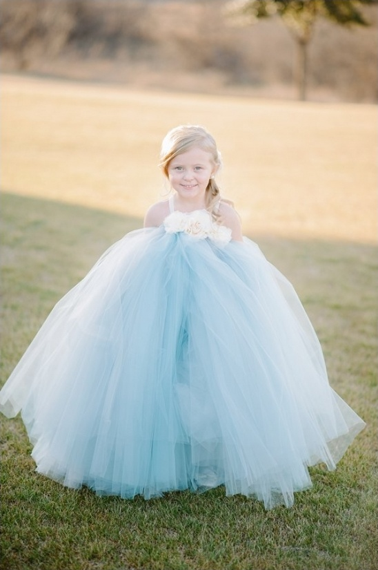 darling blue flower girl tutu