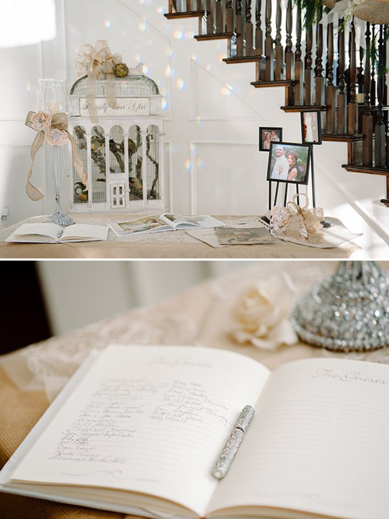 romantic guestbook table decor ideas