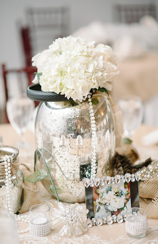 shabby chic silver wedding ideas