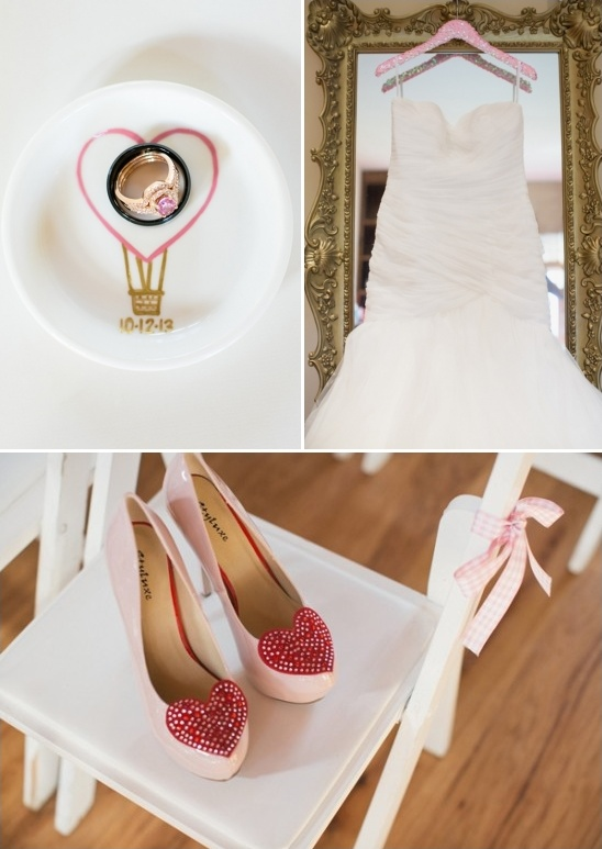 pink heart wedding attire