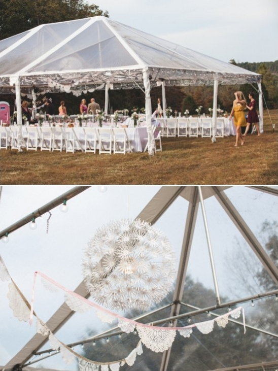 hang ikea light inside wedding tent