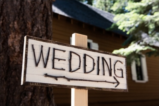 branches wedding sign