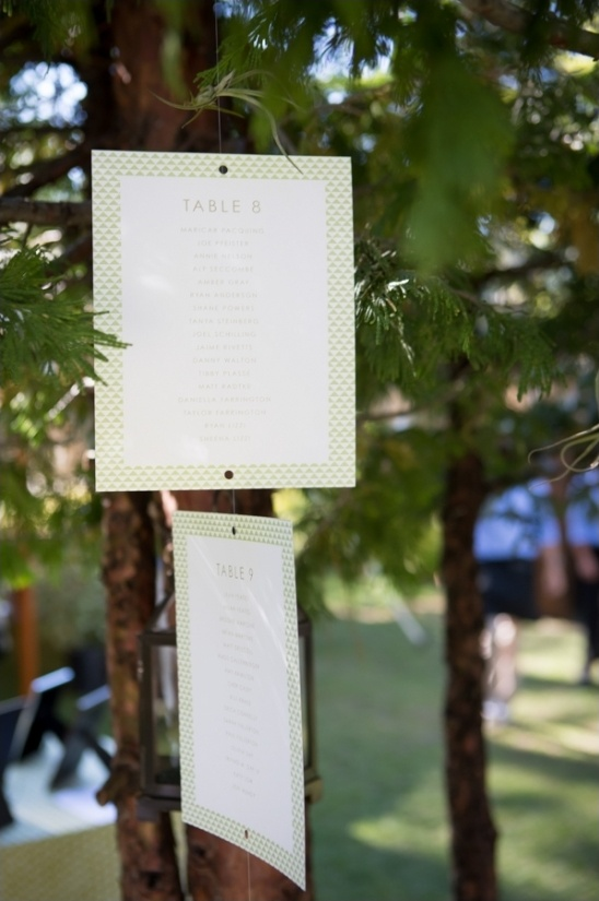 seating arrangement hanging from trees