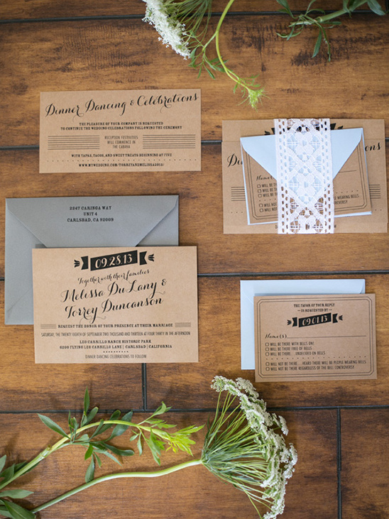 kraft wedding invite