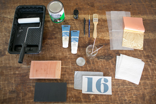 materials needed for diy table numbers