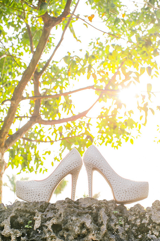 diamond bejewled wedding shoes