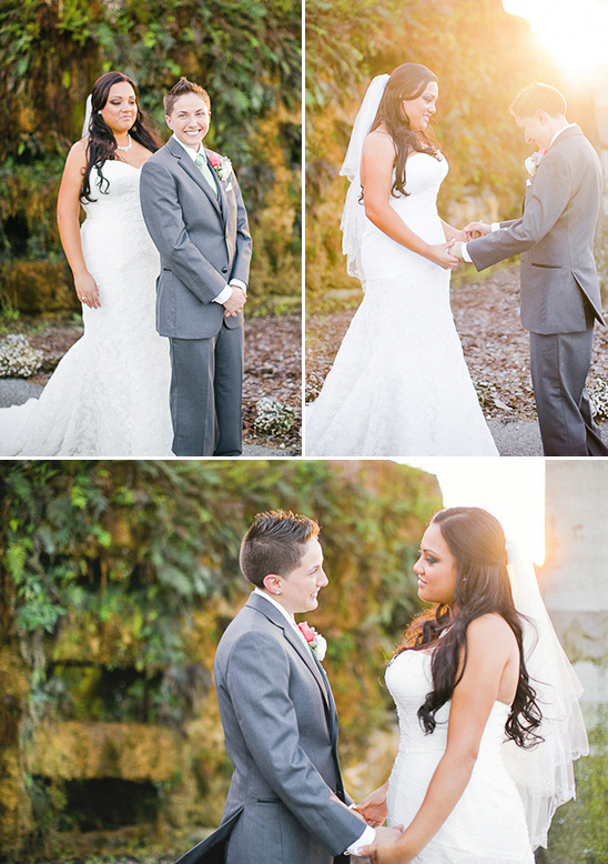 sunkissed wedding photos