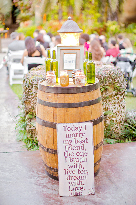 winery barrels for decor table