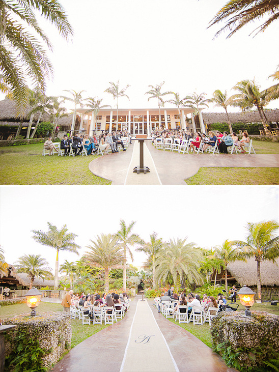 outdoor tropical wedding