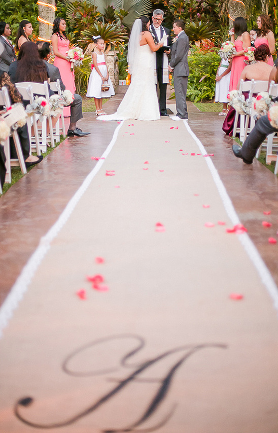 burlap wedding runner
