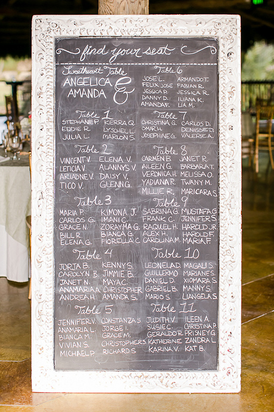 chalkboard seating chart idea