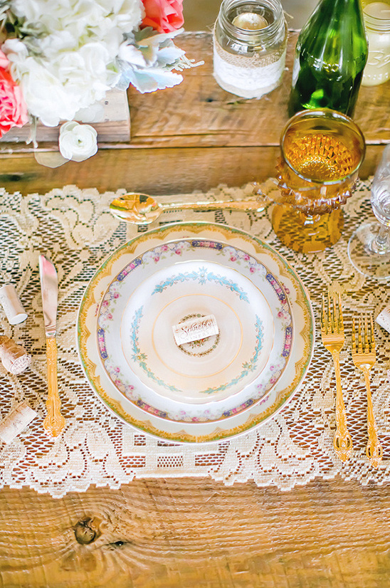 vintage china mix and match place settings