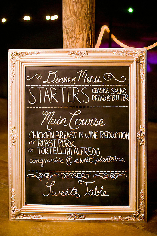chalkboard dinner menu idea