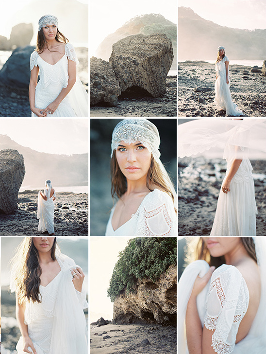 Beach bridal session captured by Erich Mcvey