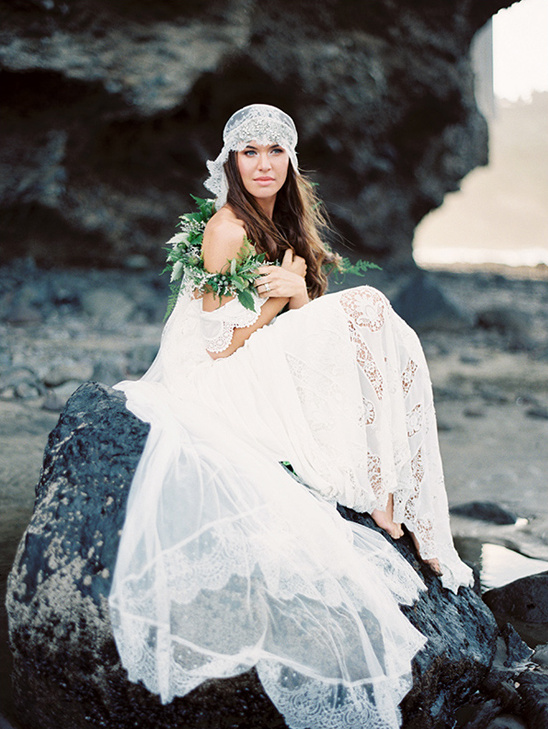 beach bridal session