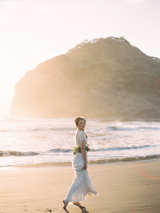 beach inspired bridal session