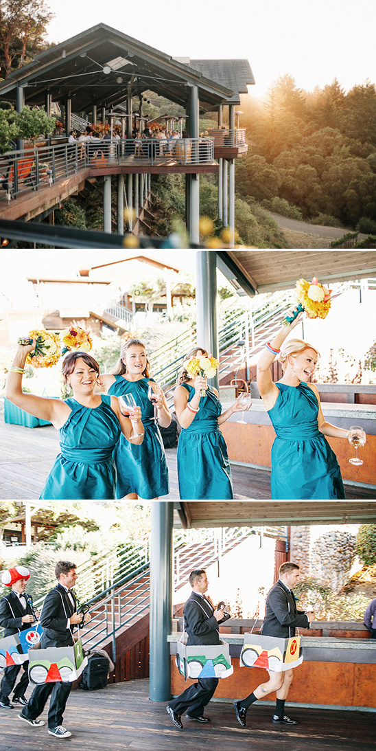 Mario Kart wedding party entrance