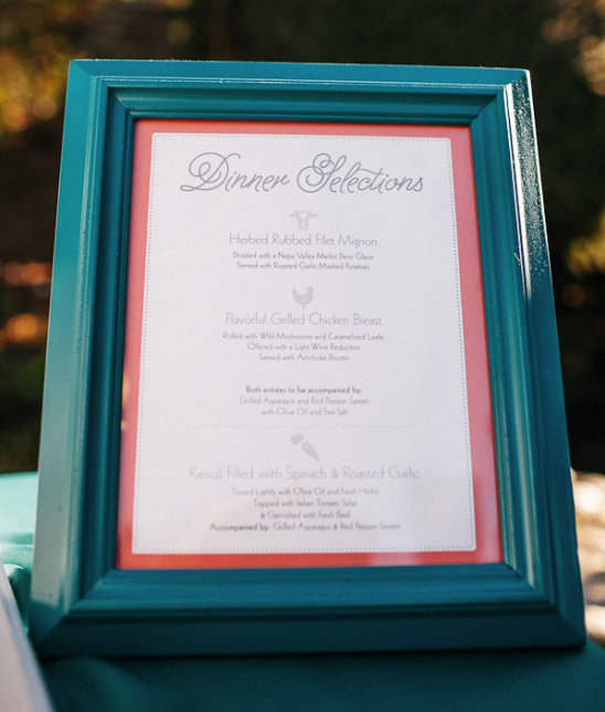 whats for dinner framed menu