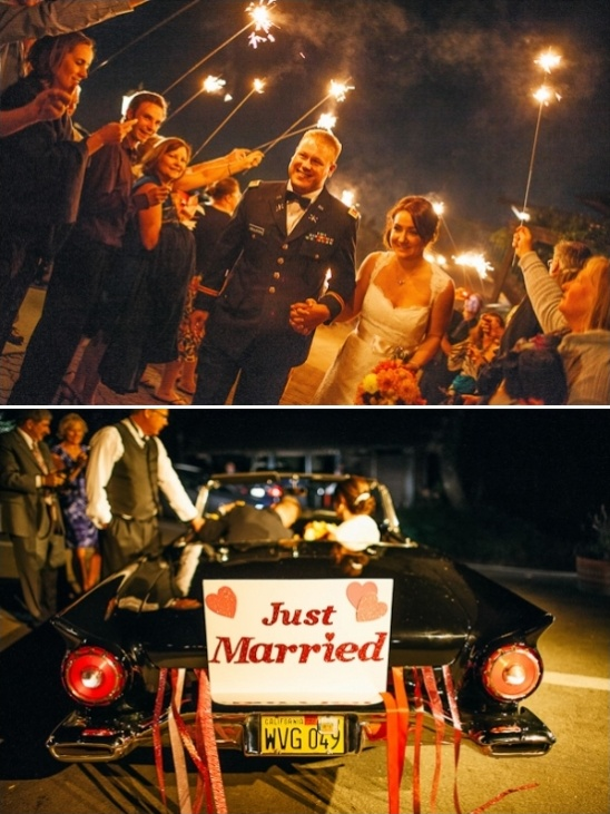 just married get away car sign